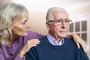 Senior couple needing care