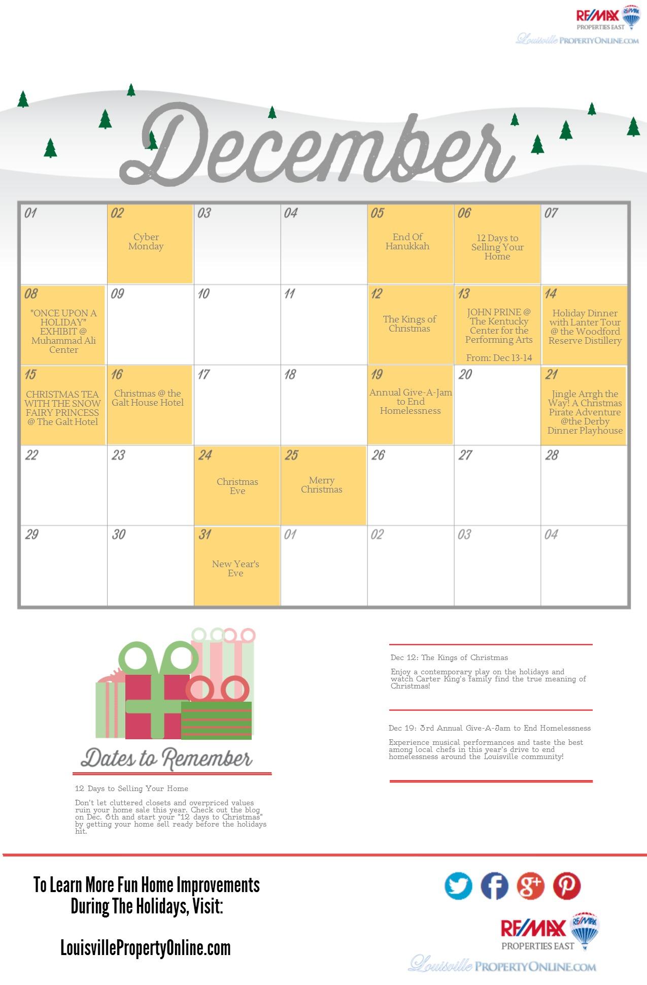 Louisville KY Holiday Calendar