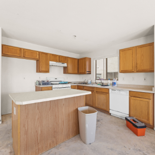 Outdated kitchen of Las Vegas, NV home
