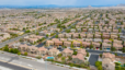 Aerial view of Skye Canyon community in Las Vegas, Nevada. Reasons you should buy a home this year in Las Vegas, NV.