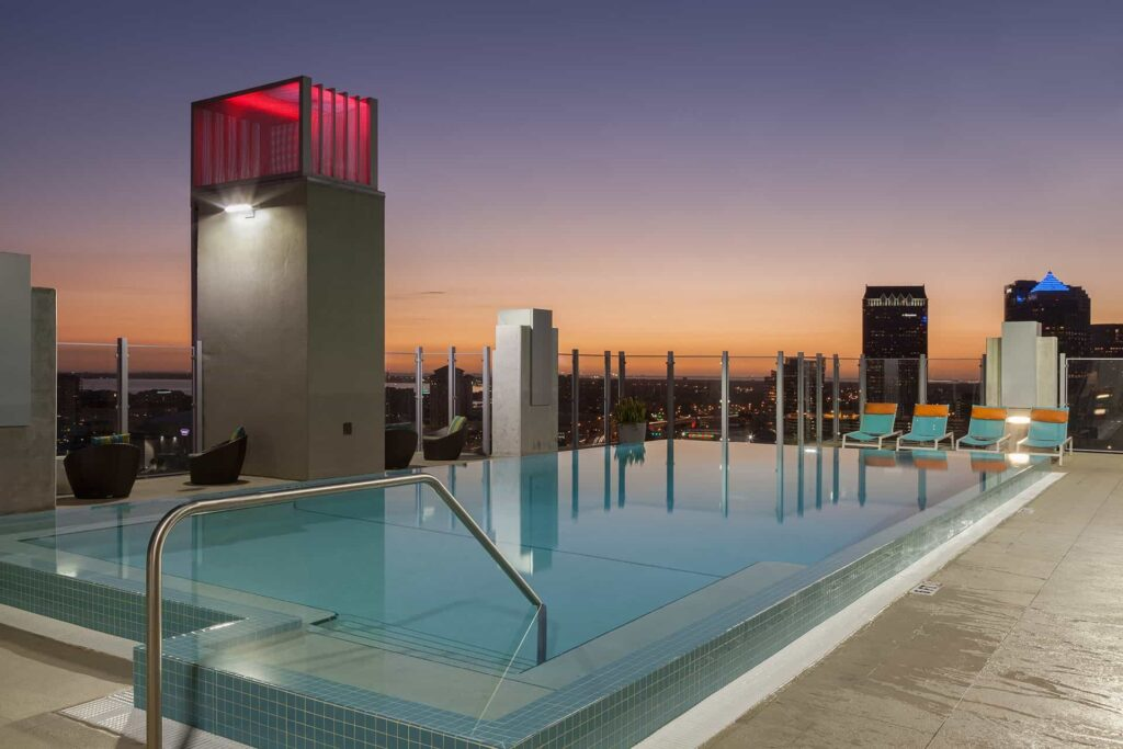 Places to live in Downtown Tampa Skyhouse-Channelside-Luxury-Apartments