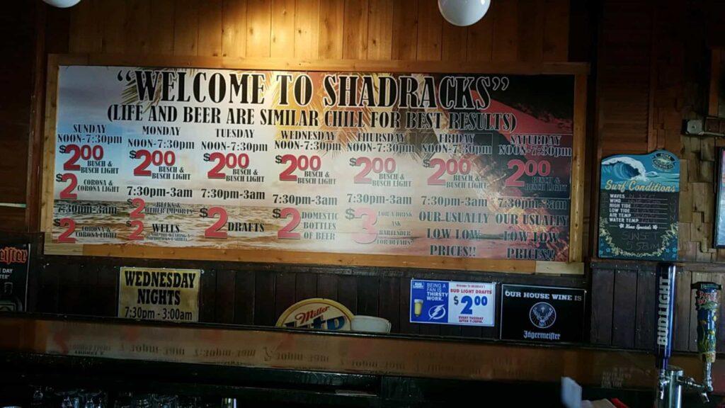 Tampa Bay Dive Bars-Shadracks