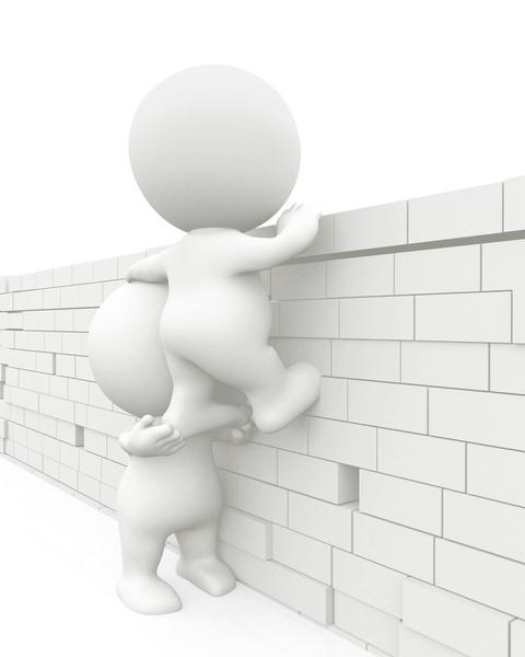 Peeking over a wall