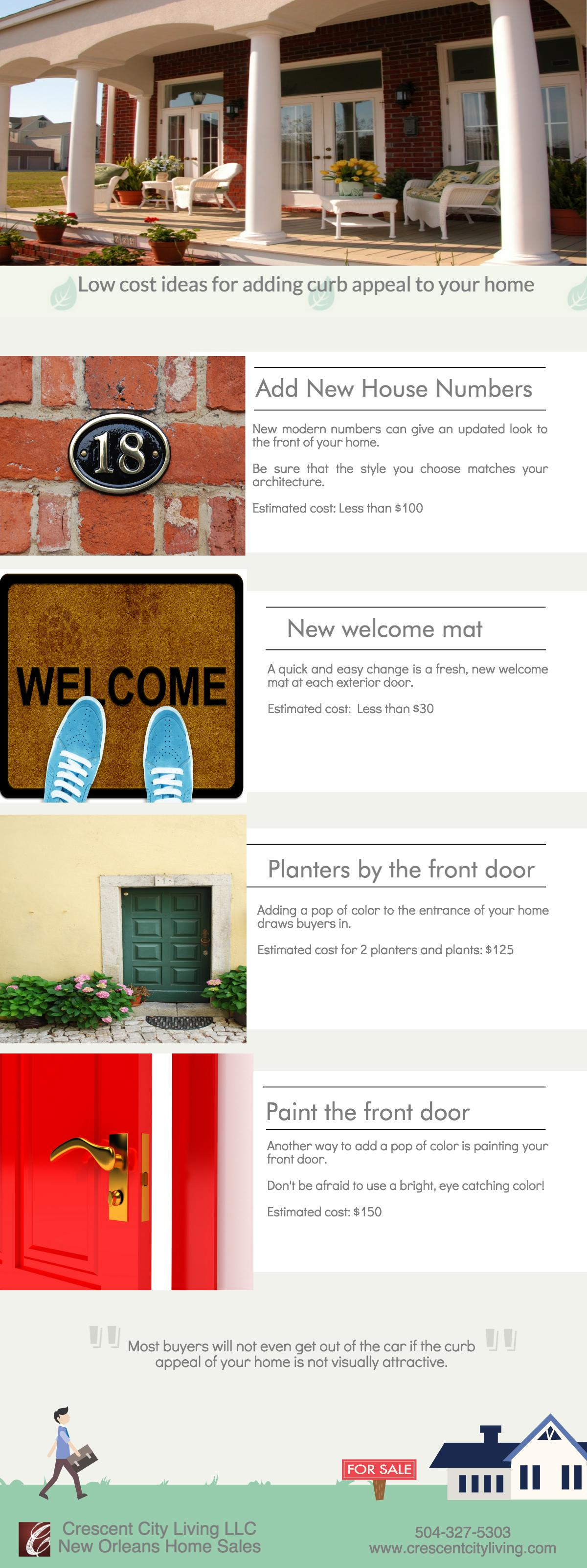 Low cost ideas to add curb appeal