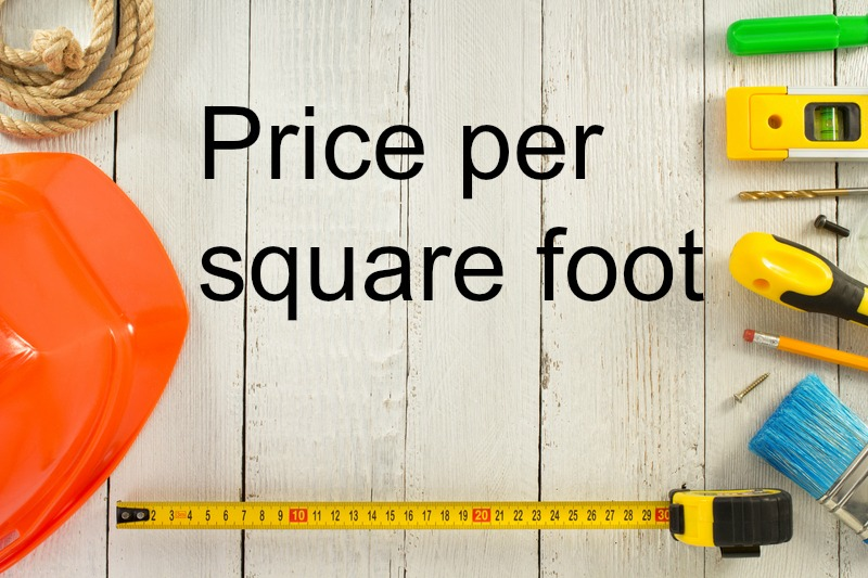 When does price per square foot matter greater new for New home cost per square foot