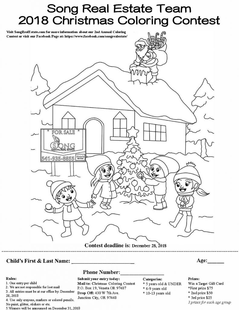 2nd Annual 2018 Song Real Estate Team Coloring Contest