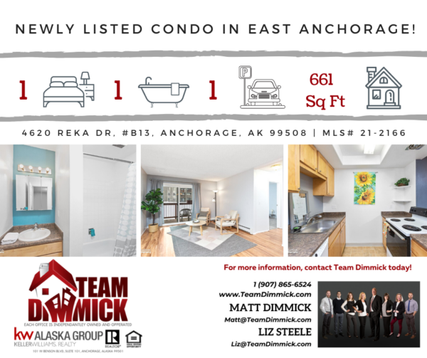 Newly Listed Condo Located in East Anchorage!