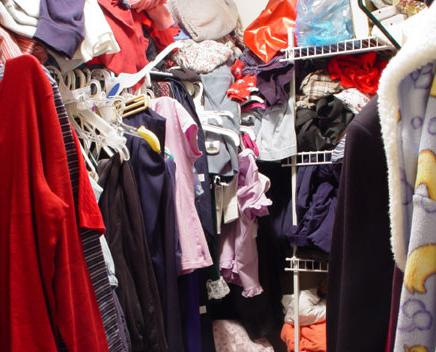 clutter in closet